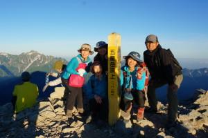 五竜岳山頂!