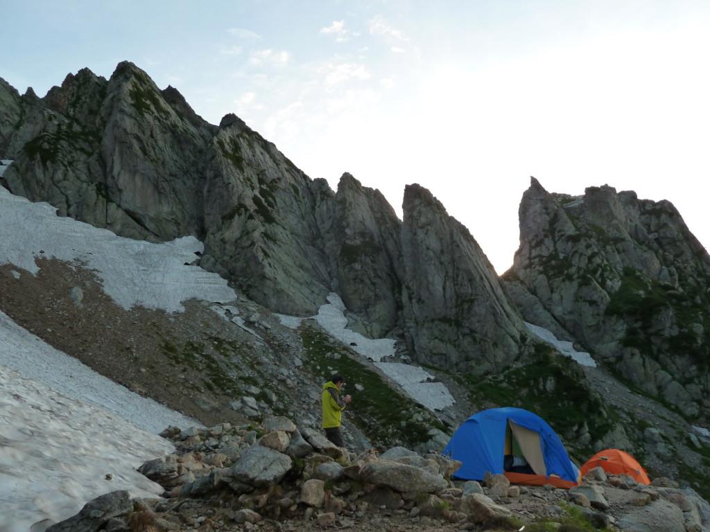 熊の岩からの八ツ峰Ⅵ峰
