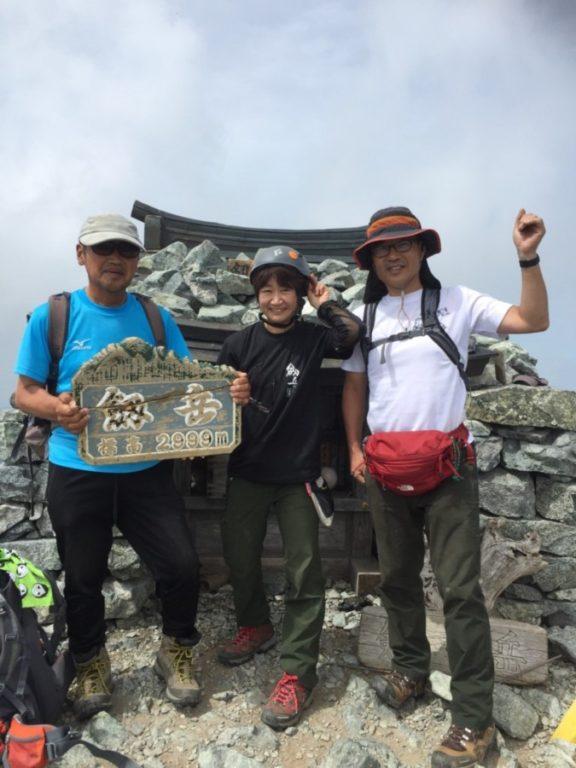 劔岳山頂の記念写真